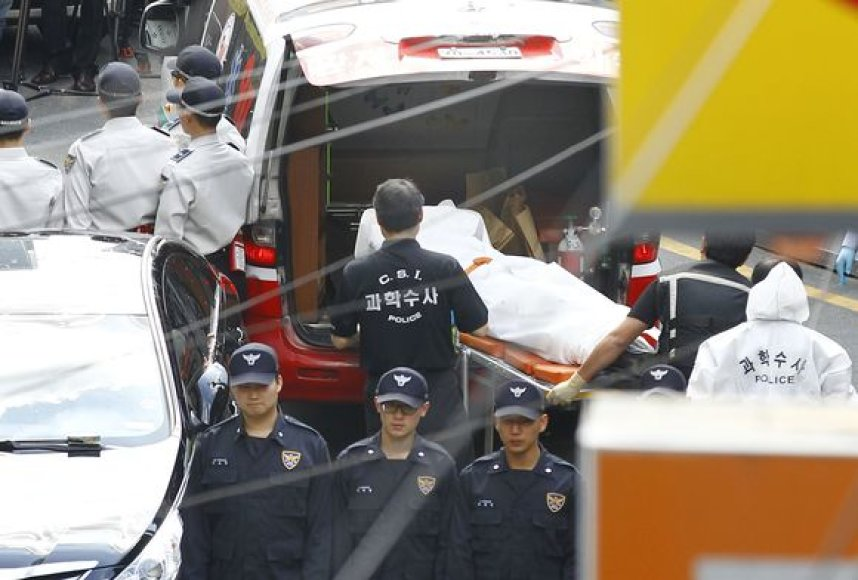 Chung Goo-haeng nusižudė po kratos