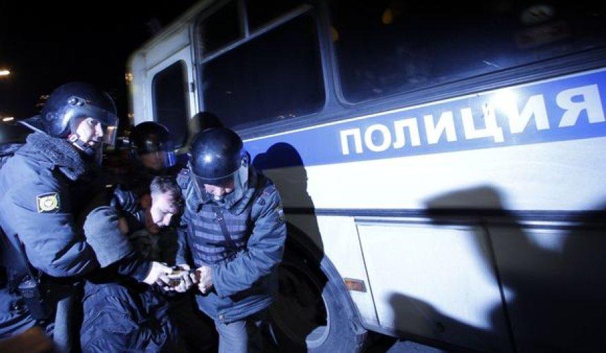 Policija Maskvos Triumfo aikštėje