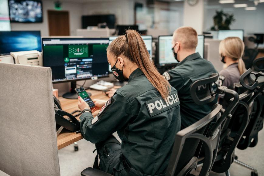 Policijos nuotr./Virtualios policijos padalinys