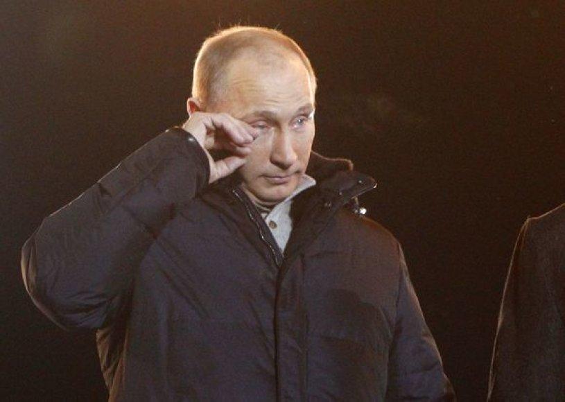 Vladimiras Putinas braukė ašarą