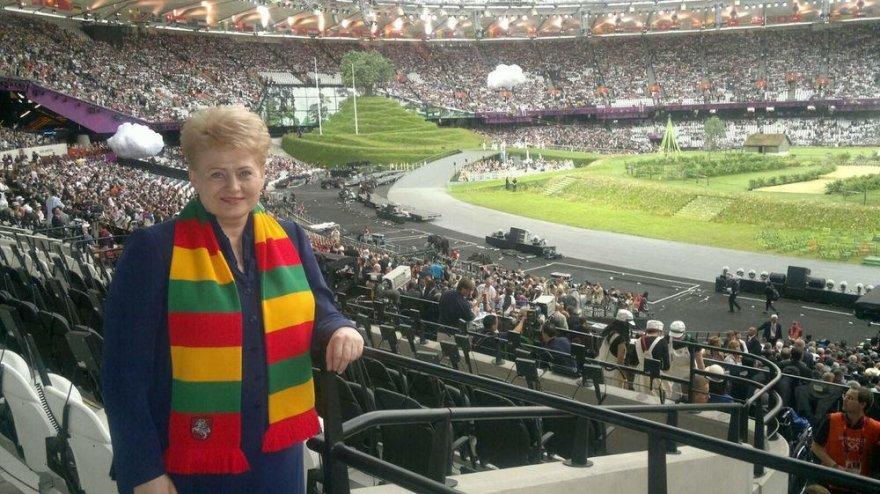 Dalia Grybauskaitė olimpinių žaidynių atidaryme