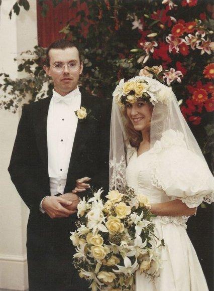 Hansas Kristianas Rausingas su žmona 1992 metais