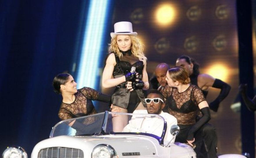 Madonnos koncerto akimirka