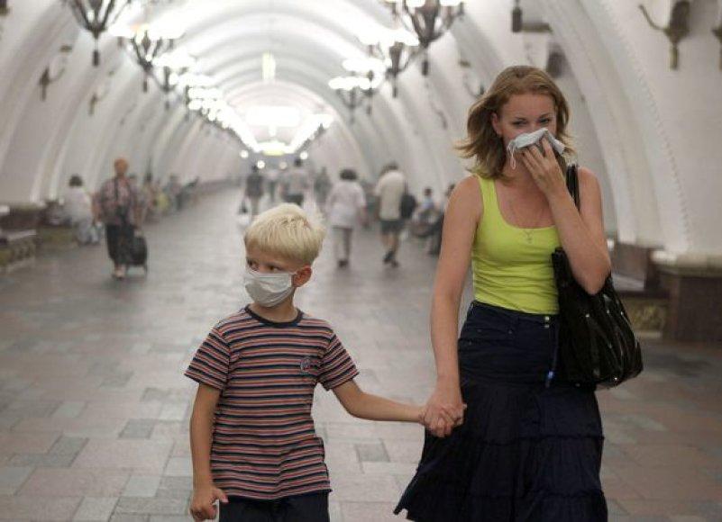 Gyvenimas Maskvoje kankinant smogui