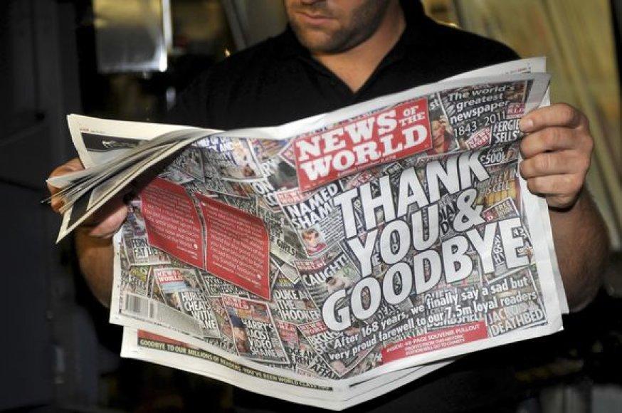 Paskutinio laikraščio numerio išleidimas