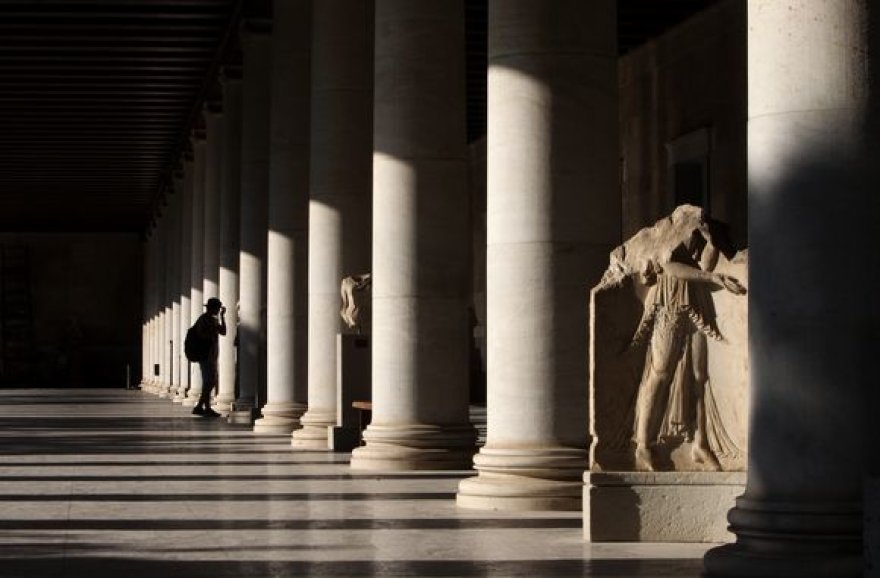 Turistai Atėnuose