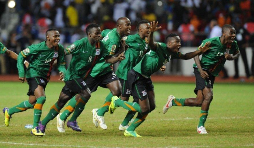 Zambijos futbolininkų triumfas.