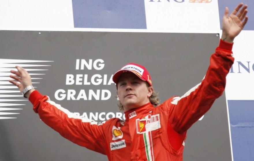 """K.Raikkonenui ši pergalė buvo 18-a per jo karjerą """"Formulėje-1"""""""