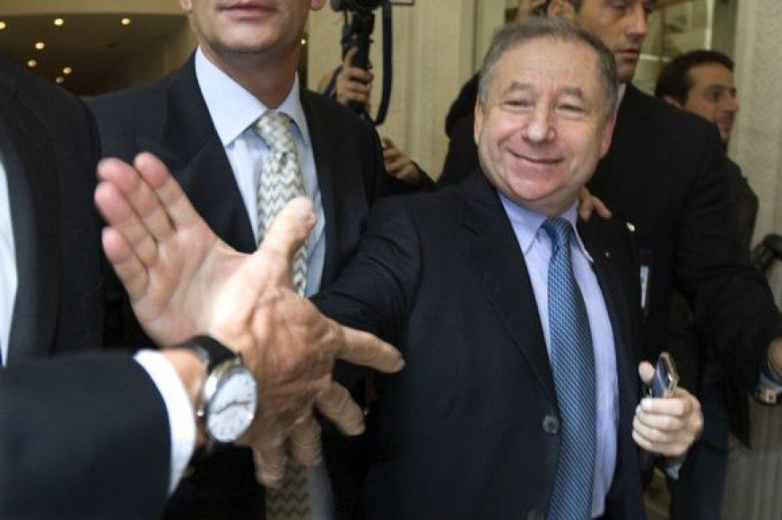 FIA prezidentu J.Todtas buvo ištinktas ketverių metų kadencijai