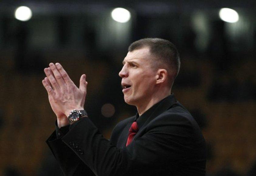 """D.Lavrinovičiaus teigimu, T.Pačėsas """"Asseco Prokom"""" krepšininkams suteikia daug laisvės aikštelėje"""