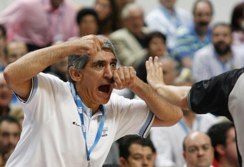 """""""Olympiacos"""" treneris P.Giannakis tikisi kietos kovos"""