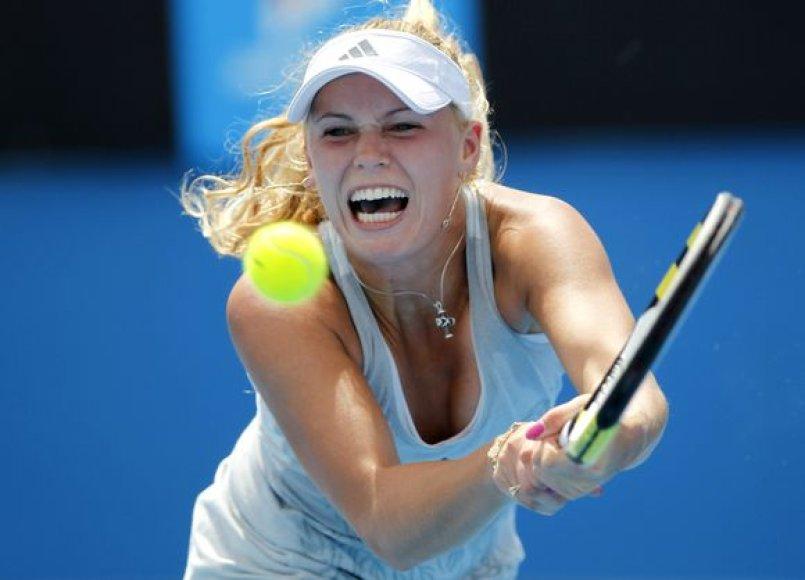 Ketvirtoji pagal skirstymą C.Wozniacki į šešioliktfinalį pateko nesunkiai