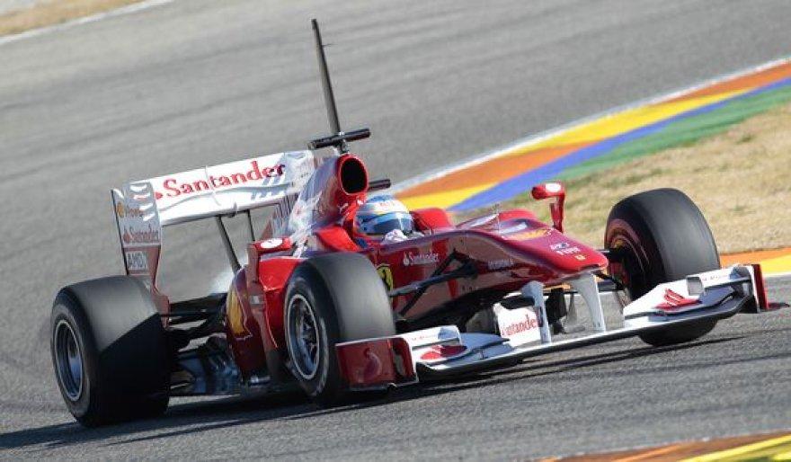 F.Alonso pademonstruotas laikas yra greičiausias per visas tris bandymų dienas Valensijos trasoje