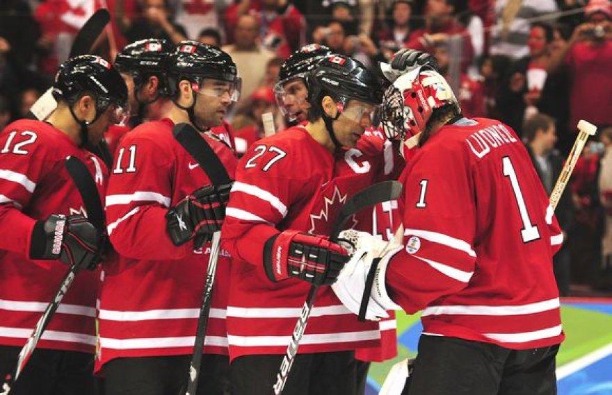 Olimpinių žaidynių šeimininkų Kanados ledo ritulininkų ketvirtfinalyje lauks rimtas išbandymas