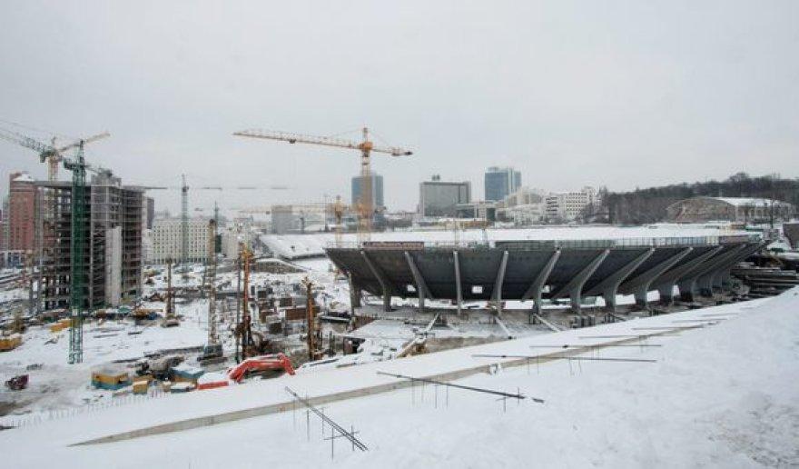 Olimpinio nacionalinio sporto centro stadiono Kijeve rekonstrukcijos darbai vėluoja 5 mėnesiais