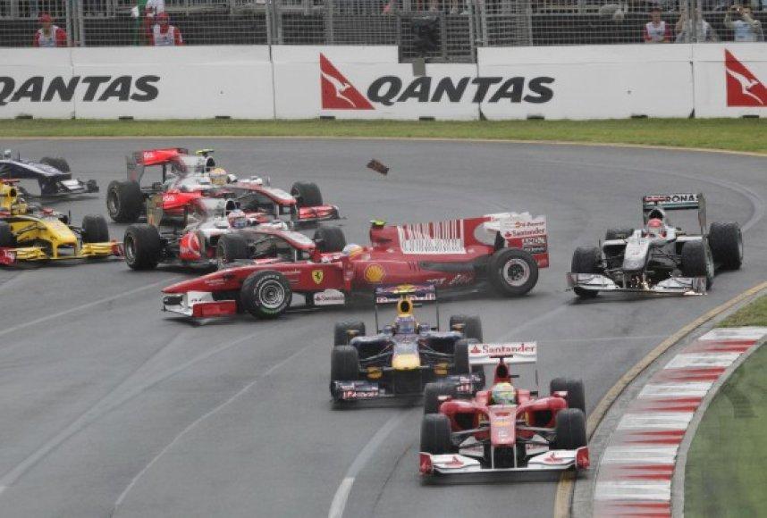 Incidentas lenktynių starte