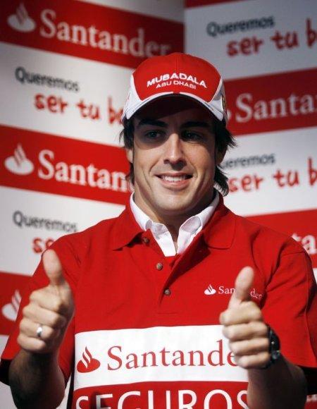 F.Alonso rankų nykščiai buvo apdrausti įspūdinga suma