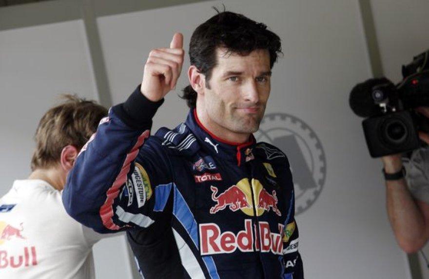 M.Webberis iš pirmosios starto pozicijos lenktynes pradėjo trečią kartą iš eilės