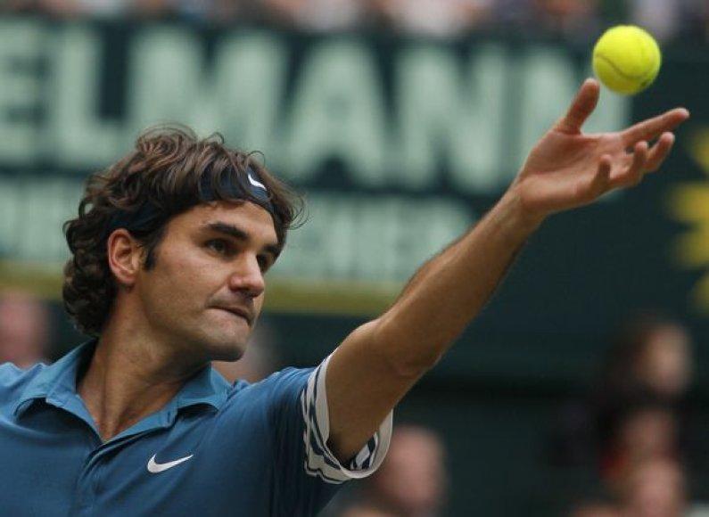 R.Federeris Halėje vykstantį teniso turnyrą gali laimėti šeštą kartą per savo karjerą