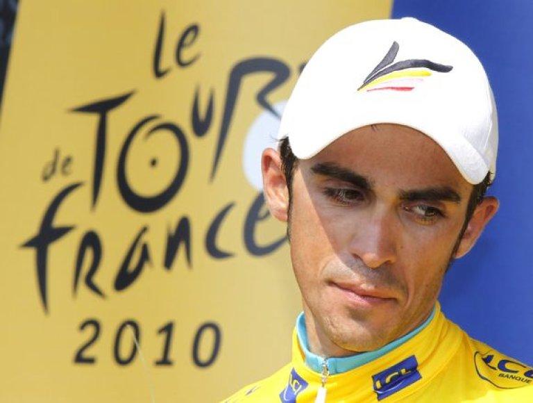 "A.Contadoras pretenduoja į trečiąjį ""Tour de France"" čempiono titulą"