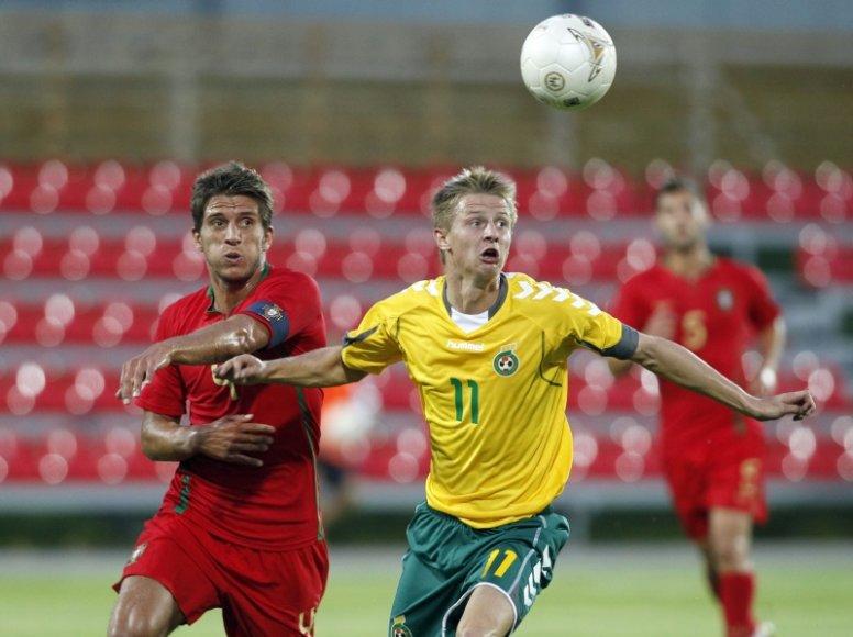 Lietuviai portugalams nusileido vieno įvarčio skirtumu