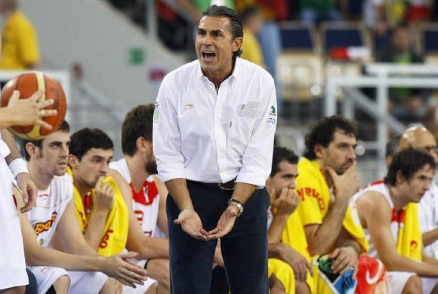 S.Scariolo treniruojami ispanai pasiruošimo pasaulio čempionatui etape skina tik pergales