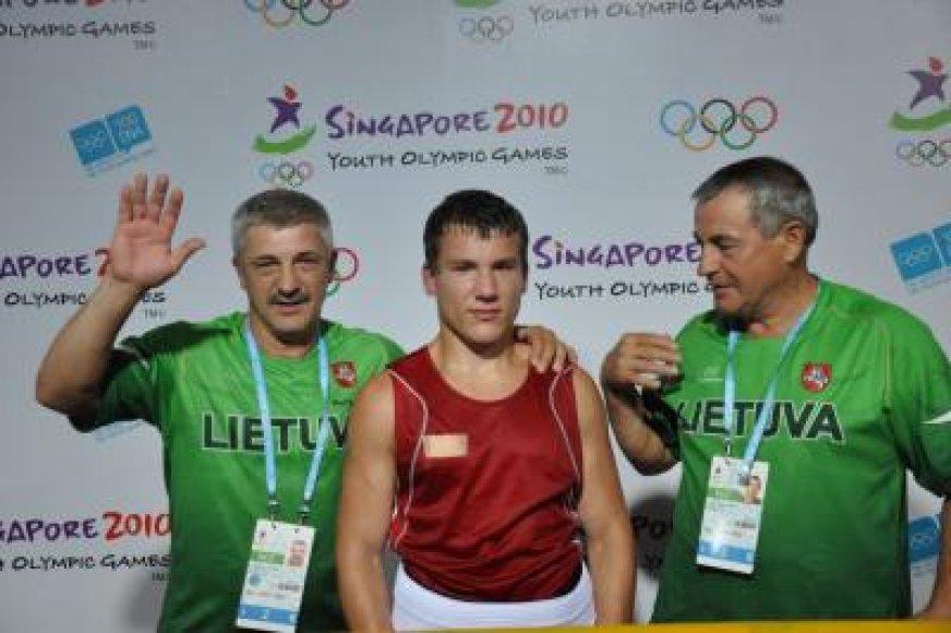 R.Kuncaitis su treneriais