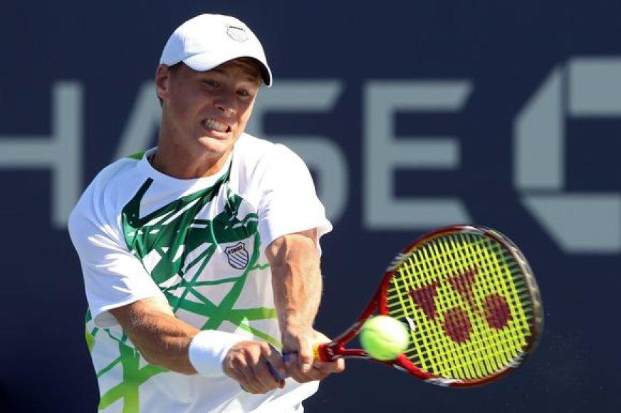 R.Berankis tapo pirmuoju lietuviu, patekusiu į antrąjį atvirojo JAV teniso čempionato ratą