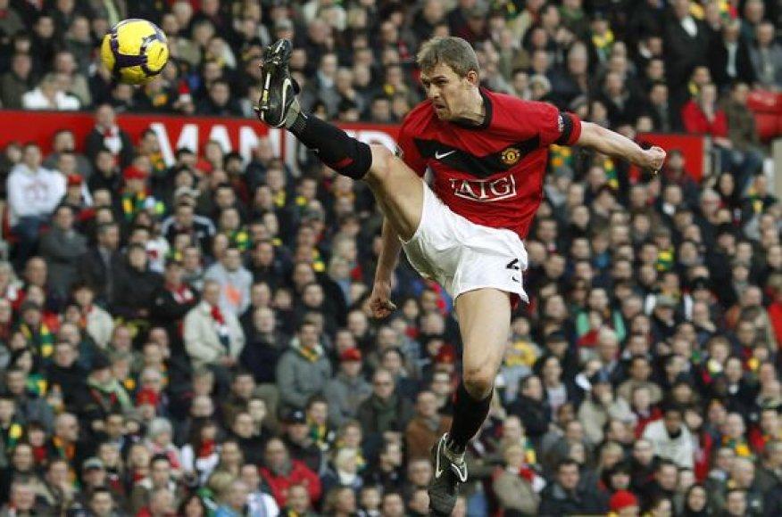 """Škotijos rinktinės kapitonas D.Fletcheris rungtyniauja garsiajame """"Manchester United"""" klube"""