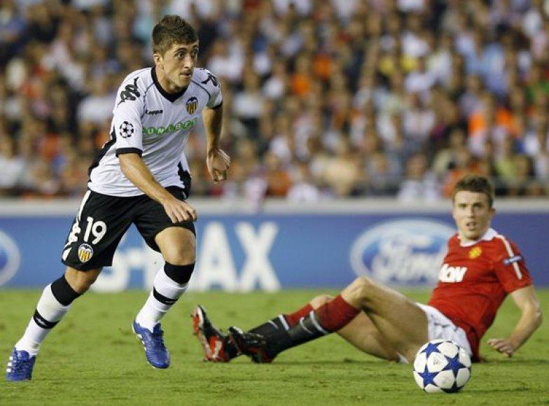 """""""Valencia"""" vienuolikė (k.) buvo priversta pripažinti """"Manchester United"""" pranašumą"""