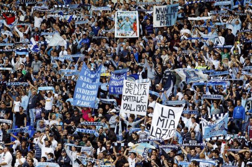 """""""Lazio"""" sirgaliai švenčia – jų mylima komanda pasiekė dar vieną pergalę"""
