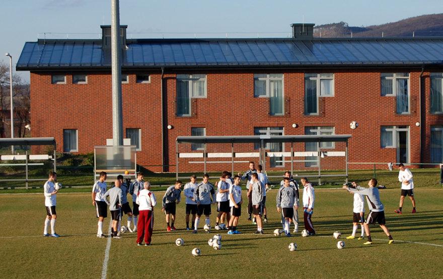 Vengrijos futbolininkų treniruotė