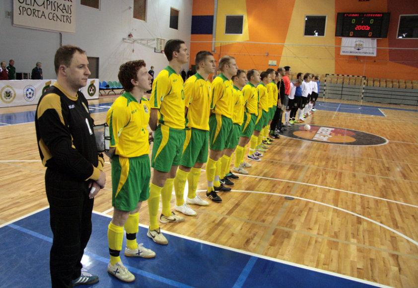 Lietuvos salės futbolo rinktinė.