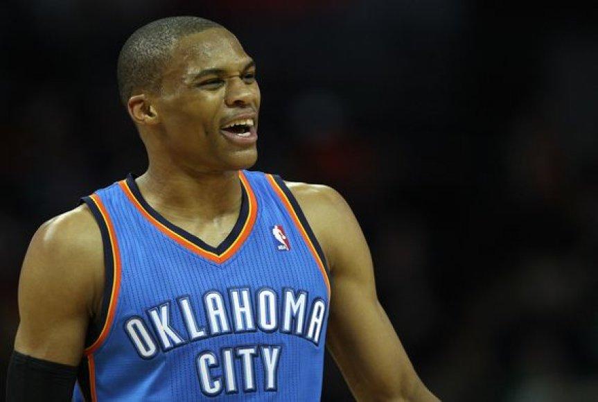 Russellas Westbrookas trigubą dublį atliko ketvirtą kartą savo karjeroje.
