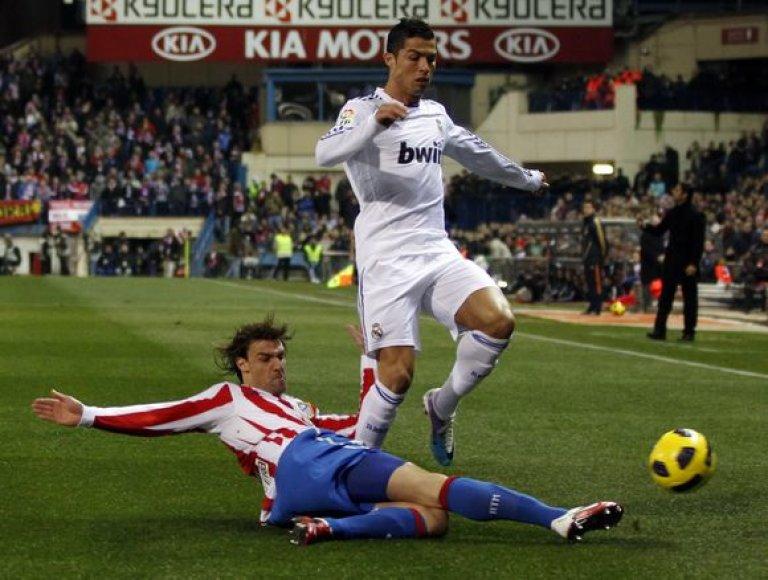 Vienintelį mačo įvartį pelnė Cristiano Ronaldo.
