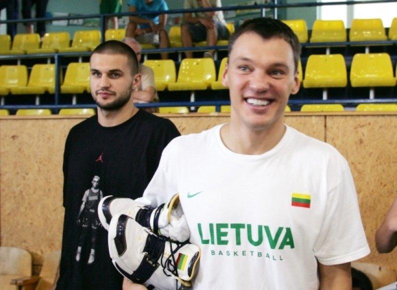 Šarūnas Jasikevičius ir Linas Kleiza Lietuvos vyrų krepšinio rinktinėje paskutinį kartą žaidė 2008 metais.