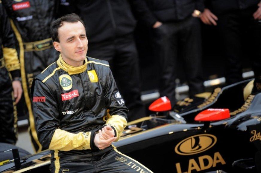 """Robertas Kubica praįjusių metų """"Formulės-1"""" čempionate užėmė 8 vietą."""