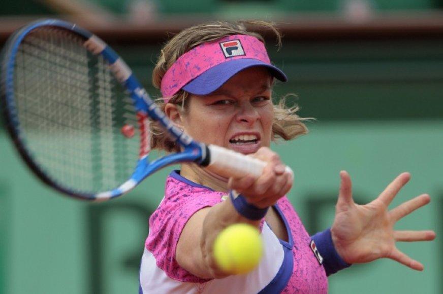 Kim Clijsters smūgis tapo interneto sensacija.