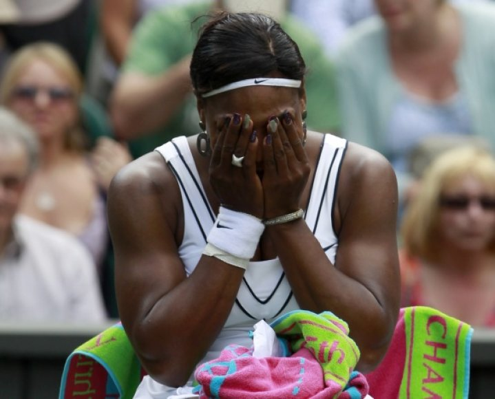 Serena Williams sunkiai tramdė emocijas.