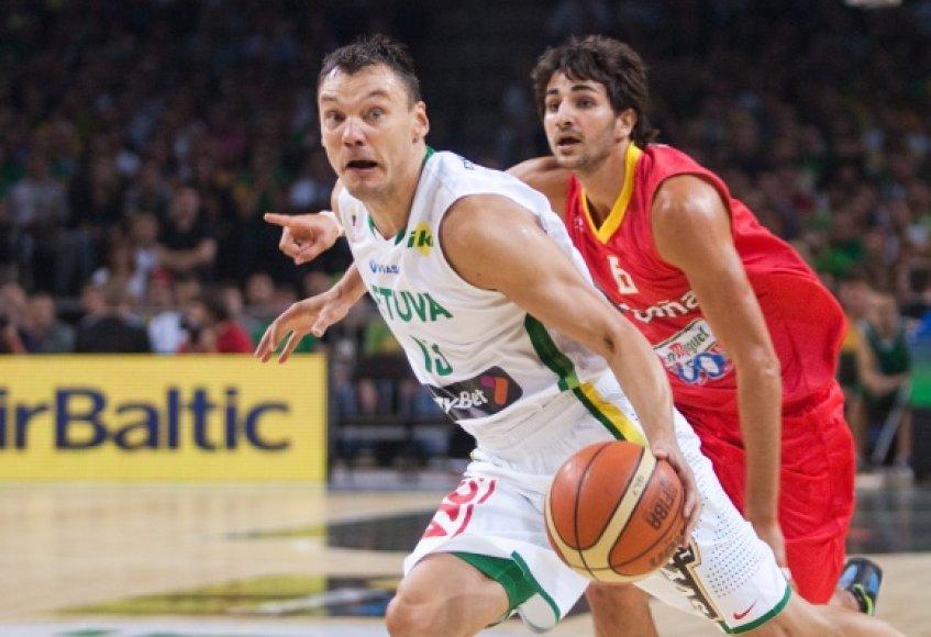 Net ir sulaukęs 35-erių Šarūnas Jasikevičius įrodinėja turintis dar pakankamai parako.