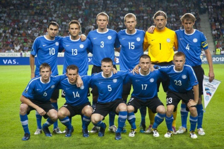 Estijos futbolo rinktinė.