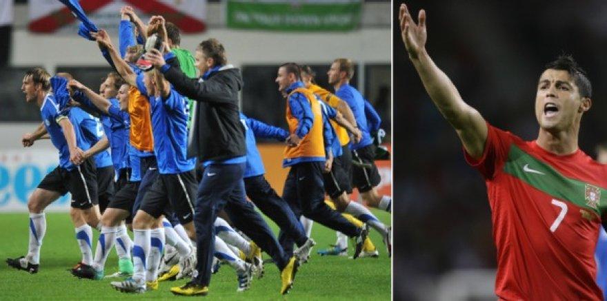 Estai jau negali padaryti jokios įtakos savo likimui, skirtingai nei Cristiano Ronaldo (dešinėje) ir Portugalija.
