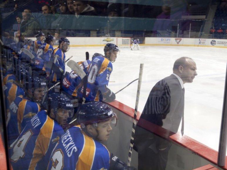 """""""Balticos"""" vyriausias treneris Dmitrijus Medvedevas (dešinėje)."""