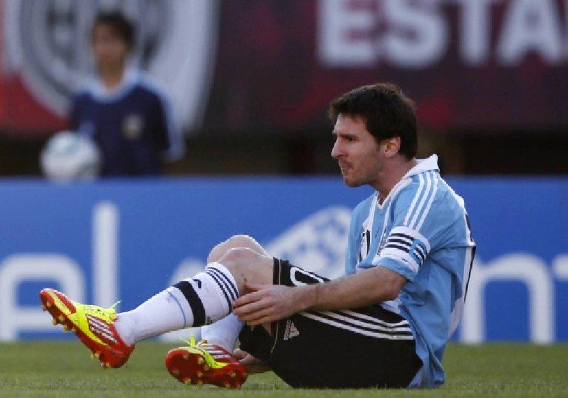 Iškovoti pergalės Argentinai nepadėjo ir geriausias pasaulio futbolininkas Lionelis Messi.