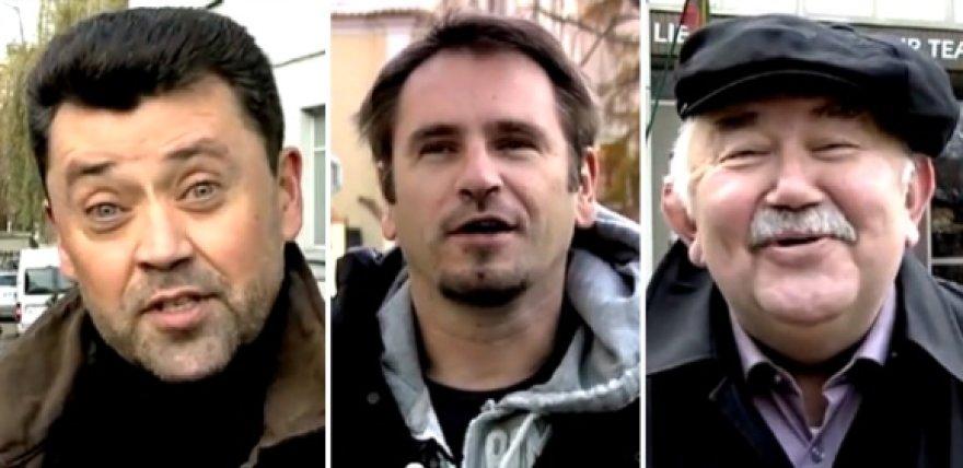 Vytautas Šapranauskas, Marijonas Mikutavičius ir Donatas Katkus.