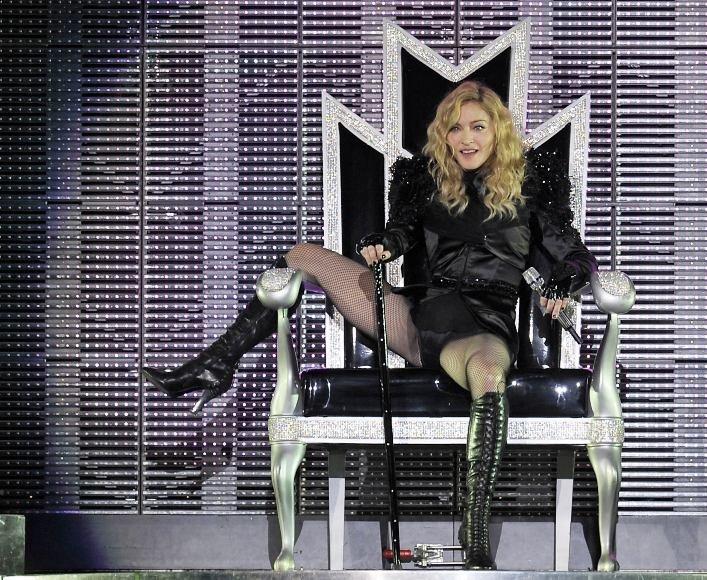 Madonna savo pasirodymo Barselonoje, Ispanijoje, metu