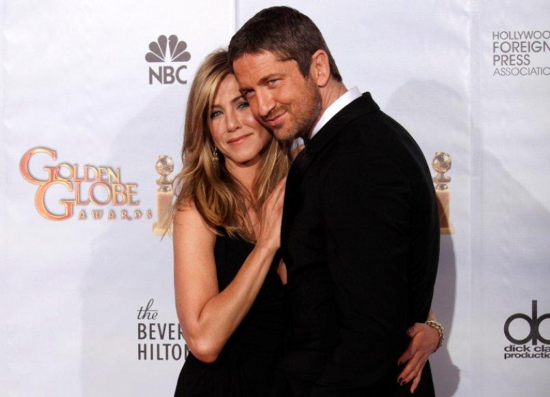 Jennifer Aniston ir Gerardas Butleris