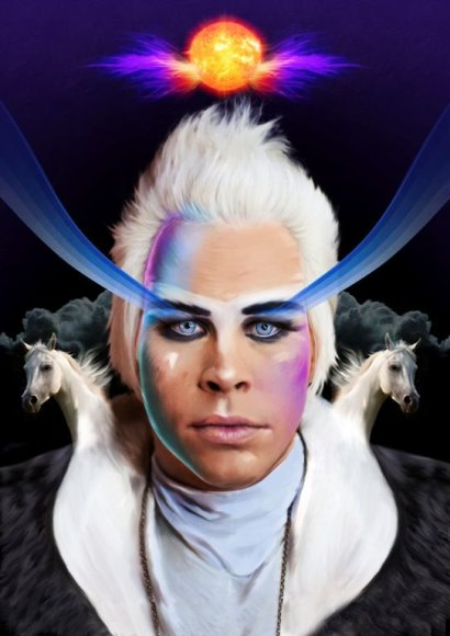 """Empire Of the Sun"" vokalistas Luke'as Steele'as"