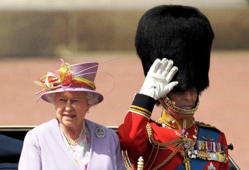 Didžiosios Britanijos karalienė Elizabeth II ir jos vyras, Edinburgo hercorgas princas Phillipas
