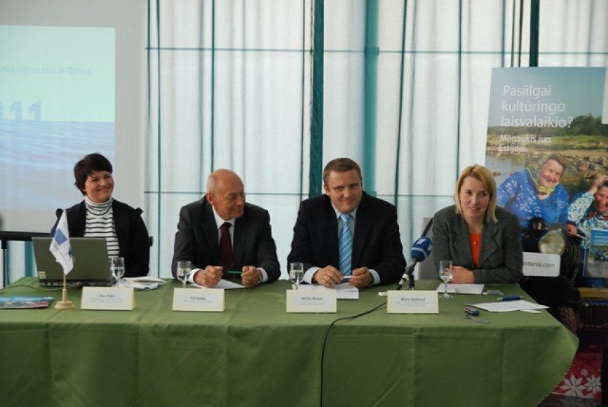 Iš kairės: Elin Pirks, Tiitas Naberis, Tarmo Mutso, Maris Hellrand